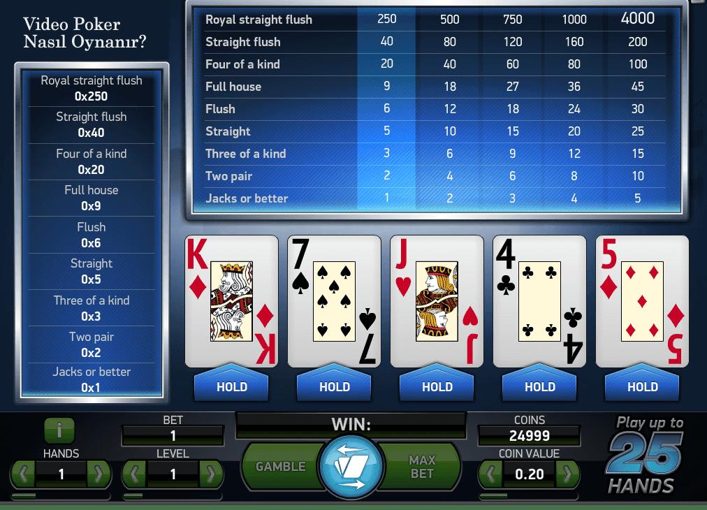 Video Poker Nasıl Oynanır?