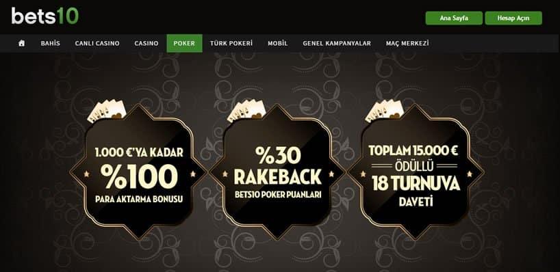 Bets10 Poker Ana Sayfa