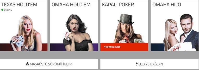 KlasPoker (PokerKlas) Poker Lobisi ve Oyun Çeşitleri