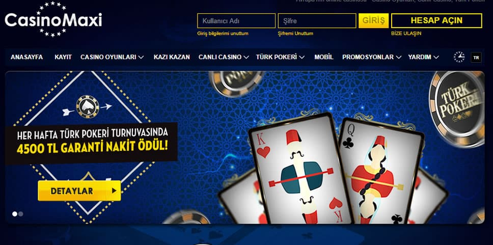 CasinoMaxi Türk Pokeri Ana Sayfa