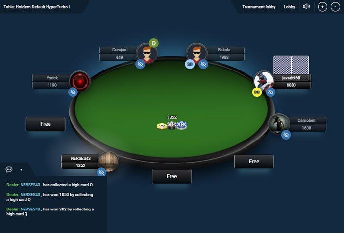 Birxbet Texas Holdem Poker Masası Görüntüsü